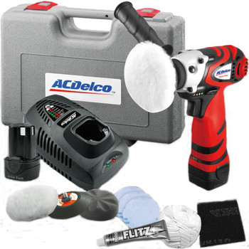 Picture of ACDelco ARS1210R 12V Cordless Lithium-Ion 3 in Mini Polisher with Headlight Restoration Kit