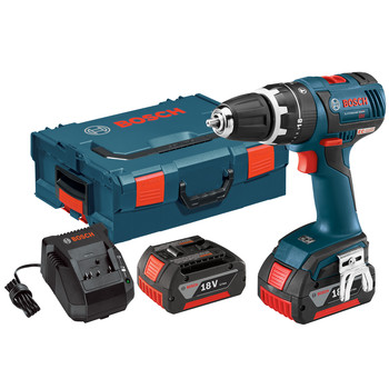 Bosch HDS182-01L 18V Cordless Lithium-Ion 1\/2 in. Brushless Compact Tough Hammer Drill Driver Kit with L-BOXX 2 Case