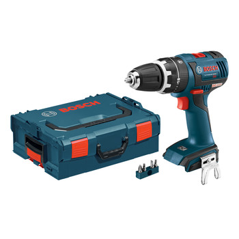 Bosch HDS182BL 18V Cordless Lithium-Ion 1\/2 in. Brushless Compact Tough Hammer Drill Driver (Bare Tool) with L-BOXX 2 Case & ExactFit Insert Tray