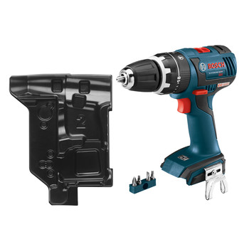 Bosch HDS182BN 18V Cordless Lithium-Ion 1\/2 in. Brushless Compact Tough Hammer Drill Driver (Bare Tool) with L-BOXX Insert Tray