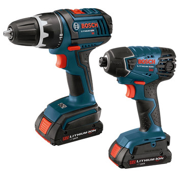 Bosch CLPK232-180-RT 18V Cordless Lithium-Ion 1\/2 in. Drill Driver and Impact Driver Combo Kit