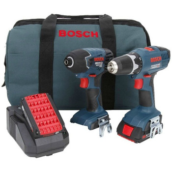 Bosch CLPK24-180-RT 18V Cordless Lithium-Ion 3\/8 in. Drill Driver and Impact Driver Combo Kit