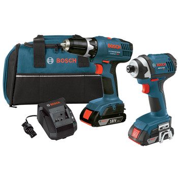 Bosch CLPK25-180-RT 18V Cordless Lithium-Ion 3\/8 in. Drill Driver and Impact Driver Combo Kit