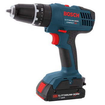 Bosch HDB180-02-RT 18V 1.3 Ah Cordless Lithium-Ion 3\/8 in. Hammer Drill Driver Kit with Contractor Bag