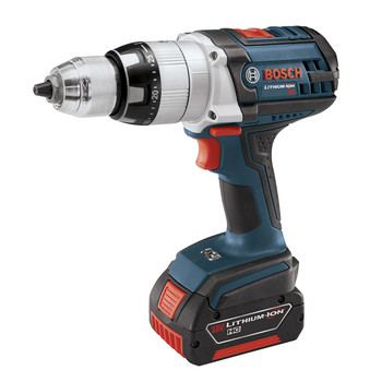 Bosch HDH181-01-RT 18V Cordless Lithium-Ion Brute Tough 1\/2 in. Hammer Drill Driver with 2 Fat Pack HC Batteries