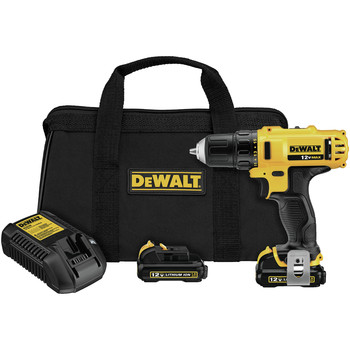 Dewalt DCD710S2 12V MAX Cordless Lithium-Ion 3\/8 in. Keyless Chuck Drill Driver Kit