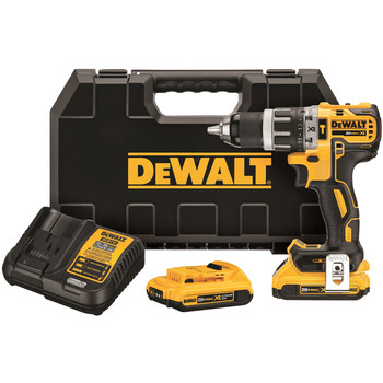 Dewalt DCD796D2 20V MAX XR 2.0 Ah Cordless Lithium-Ion 1\/2 in. Brushless Compact 3-Speed Hammer Drill Kit