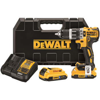 Dewalt DCD796D2BT 20V MAX XR Cordless Lithium-Ion 1\/2 in. Brushless Compact 3-Speed Hammer Drill Kit with 2.0 Ah Bluetooth Battery