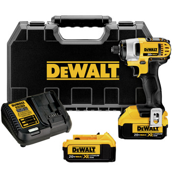 Dewalt DCF885M2 20V MAX XR Cordless Lithium-Ion 1\/4 in. Impact Driver Kit
