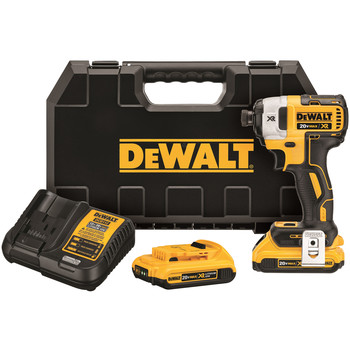 Dewalt DCF887D2 20V MAX XR 2.0 Ah Cordless Lithium-Ion 1\/4 in. Brushless Impact Driver Kit