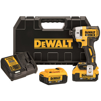 Dewalt DCF887M2 20V MAX XR 4.0 Ah Cordless Lithium-Ion 1\/4 in. Brushless Impact Driver Kit
