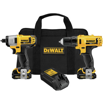 Dewalt DCK211S2 12V MAX 1.5 Ah Cordless Lithium-Ion 3\/8 in. Drill Driver and Impact Driver Combo Kit