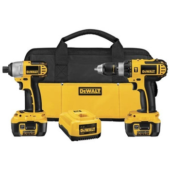 Dewalt DCK274L 18V XRP Cordless Lithium-Ion 1\/2 in. Hammer Drill and Impact Driver Combo Kit