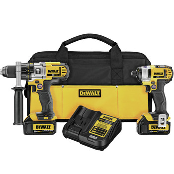 Dewalt DCK290L2 20V MAX Cordless Lithium-Ion 1\/2 in. Hammer Drill and Impact Driver Combo Kit