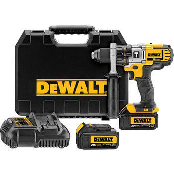 Dewalt DCD985L2R 20V MAX Cordless Lithium-Ion 1\/2 in. Premium 3-Speed Hammer Drill Kit with 3.0 Ah Batteries