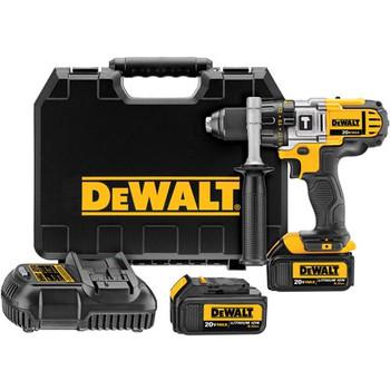 Dewalt DCD985L2R 20V MAX Cordless Lithium-Ion 1\/2 in. Premium 3-Speed Hammer Drill Kit with 3.0 Ah Batteries
