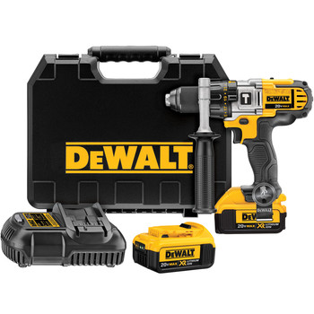 Dewalt DCD985M2R 20V MAX Cordless Lithium-Ion 1\/2 in. Premium 3-Speed Hammer Drill Kit with 4.0 Ah Batteries
