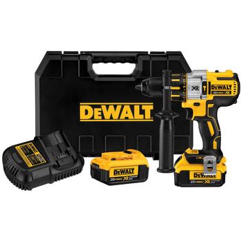 Dewalt DCD995M2R 20V MAX XR Cordless Lithium-Ion 3-Speed 1\/2 in. Brushless Hammer Drill Kit
