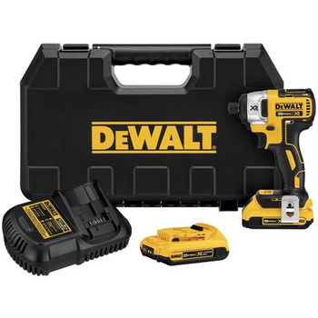 Dewalt DCF886D2R 20V MAX XR Cordless Lithium-Ion 1\/4 in. Brushless Impact Driver Kit with 2.0 Ah Batteries