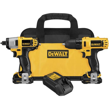 Dewalt DCK211S2R 12V MAX 1.5 Ah Cordless Lithium-Ion 3\/8 in. Drill Driver and Impact Driver Combo Kit