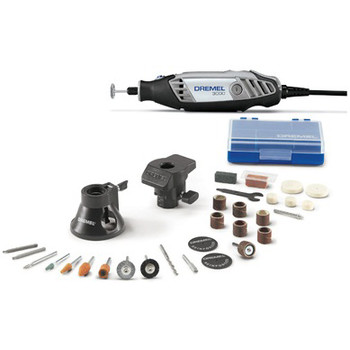 Dremel (3000-2-28) 120V 1.2 Amp Variable Speed Rotary Tool Kit with 2 Accessories and 28 Attachments