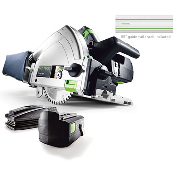 Picture of Festool 561702 18V 52 Ah Cordless Lithium-Ion Plunge Cut Track Saw Set with 55 in Track