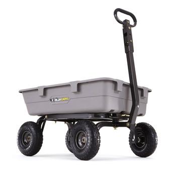 Gorilla Carts GOR5COM 800 lb. Capacity Heavy-Duty Poly Garden Dump Cart