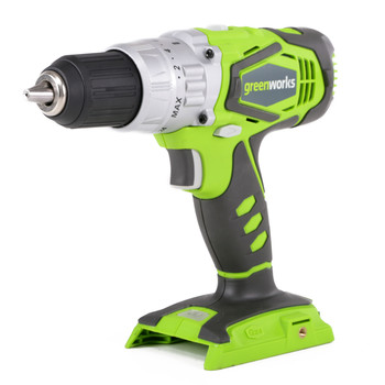 Greenworks 3700502A 24V Cordless Lithium-Ion 2-Speed 1\/2 in. Hammer Drill (Bare Tool)