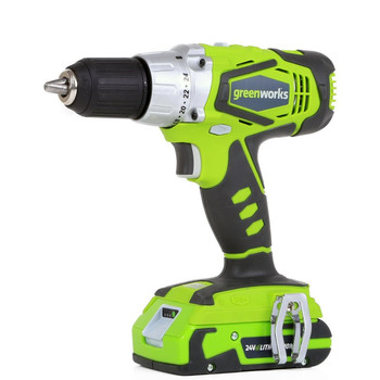 Greenworks 37012c 24V Cordless Lithium-Ion 1\/2 in. Drill Driver
