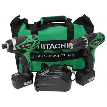 Hitachi KC10DFL HXP 12V Peak Cordless Lithium-Ion 3\/8 in. Drill Driver and Impact Driver Combo Kit
