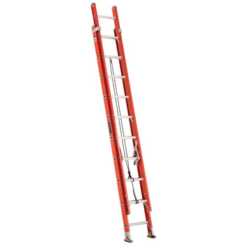 Picture of Louisville FE3220 20 ft Type IA Duty Rating 300 lbs Load Capacity Fiberglass Extension Ladder