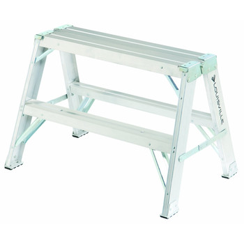 Picture of Louisville L-2032-02 2 ft Type IA Duty Rating 300 lbs Load Capacity Aluminum Sawhorse Ladder