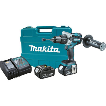Makita XPH07M 18V LXT 4.0 Ah Cordless Lithium-Ion Brushless 1\/2 in. Hammer Driver Drill Kit