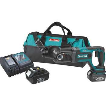 Makita XRH04 18V LXT 3.0 Ah Cordless Lithium-Ion 7\/8 in. Rotary Hammer with Clutch Limiter