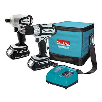 Makita LCT200W-R 18V Cordless Lithium-Ion 1\/2 in. Drill Driver & 1\/4 in. Impact Driver Combo Kit