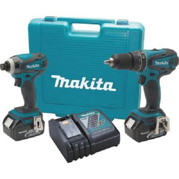 Makita XT211-R LXT 18V 3.0 Ah Cordless Lithium-Ion 1\/2 in. Hammer Drill and Impact Driver Combo Kit