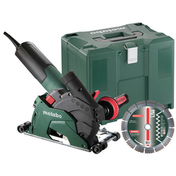 Metabo 600408680 10.5 Amp 5 in. Masonry Cutting\/Scoring Angle Grinder with Guide Rollers
