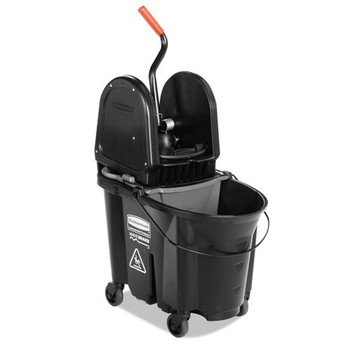 Picture of Rubbermaid 1863898 35 Quart Executive WaveBrake Down-Press Mop Bucket Black