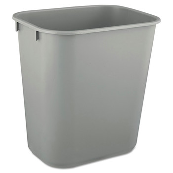 Picture of Rubbermaid 2955GRA 35 Gal Desk side Plastic Wastebasket Gray