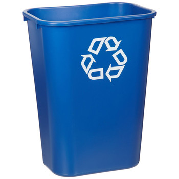 Picture of Rubbermaid 295773BE 4125 qt Large Desk side Plastic Recycle Container Blue