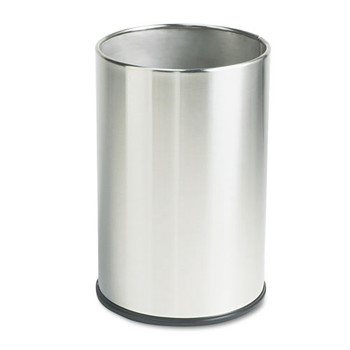 Picture of Rubbermaid UB1900SSS 5 Gal EuropeanMetallic Series Round Wastebasket Satin Stainless