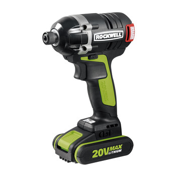 Rockwell RK2860K2 20V Max Cordless Lithium-Ion 1\/4 in. Brushless Impact Driver Kit