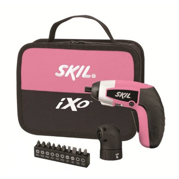 Skil 2354-04-RT 4V Max Cordless Lithium-Ion iXO Palm-Sized Driver with Right Angle Attachment and 10-Piece Bit Set