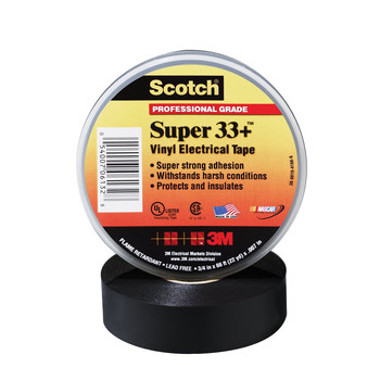 Picture of 3M 6133 Scotch Vinyl Plastic Electrical Tape Super 33 Plus 34 in x 52 ft
