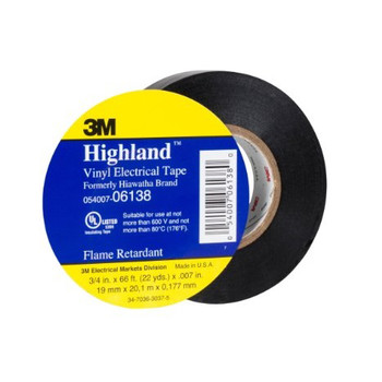 Picture of 3M 6138 Highland Vinyl Plastic Electrical Tape 34 in x 66 ft 10-Pack