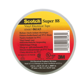 Picture of 3M 6143 Scotch Vinyl Plastic Electrical Tape Super 88 34 in x 66 ft