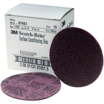 Picture of 3M 7451 Scotch-Brite Surface Conditioning Disc Maroon 4 in Medium 10-Pack