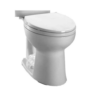 Picture of TOTO C244EF-01 Entrada Elongated Floor Mount Toilet Bowl Cotton White