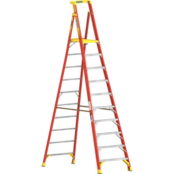 Picture of Werner PD6210 10 ft Type IA Fiberglass Podium Ladder