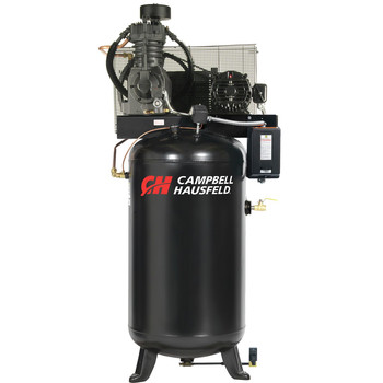 Campbell Hausfeld CE7050FP 5 HP Two-Stage 80 Gallon Oil-Lube Fully Packaged Stationary Vertical Air Compressor at Sears.com